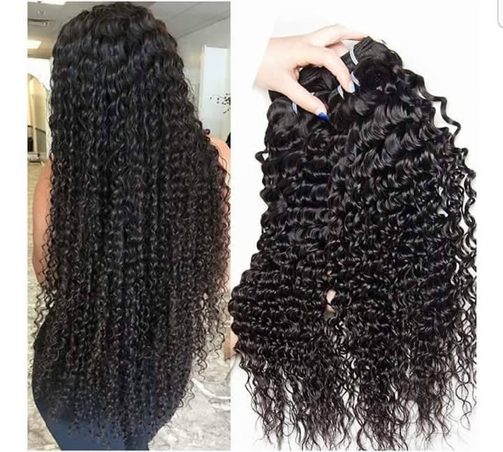 Deep Curly Human Hair 3 Bundles Selling Options Virgin Hair Weave